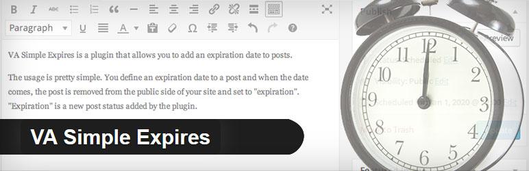 投稿記事の公開終了日時の設定が出来るWordPressプラグイン「VA Simple Expires」