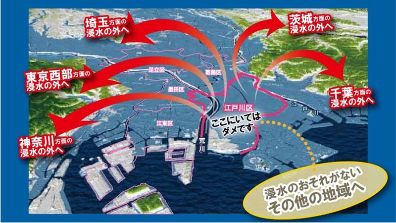江戸川区の水害ハザードマップ