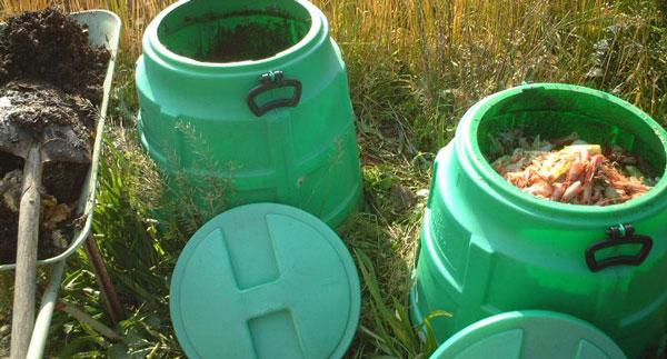 肥料にする名目で生ゴミを放置