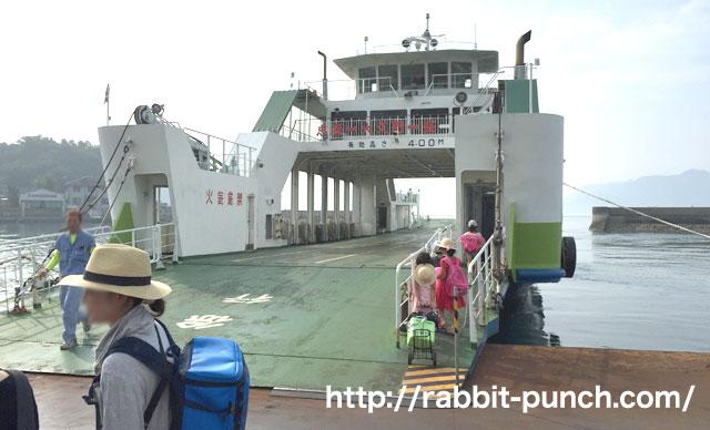 大三島フェリーは車も乗船可能