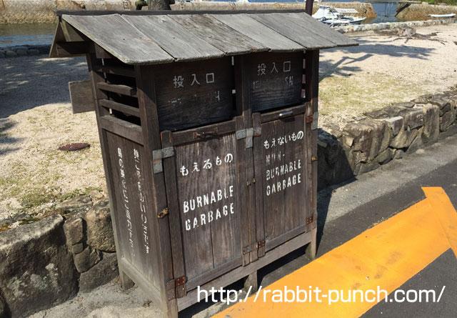 宮島にはゴミ箱がない