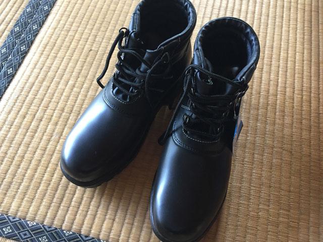 解体DIY道具 厚底の安全靴