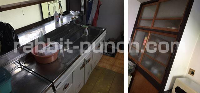 キッチン台と棚