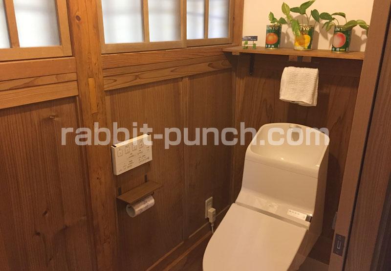 古民家風おしゃれトイレ