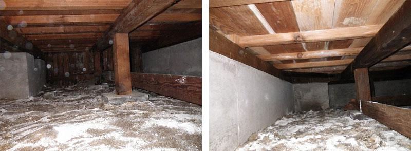 床下調湿材の石灰