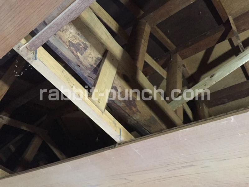 和室の天井解体