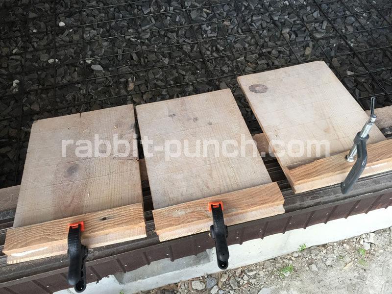 土間コンクリート仕上げに使う足場板