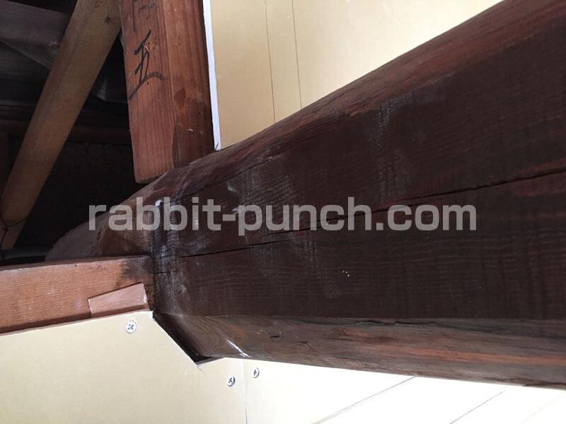 石膏ボードの梁の部分を失敗