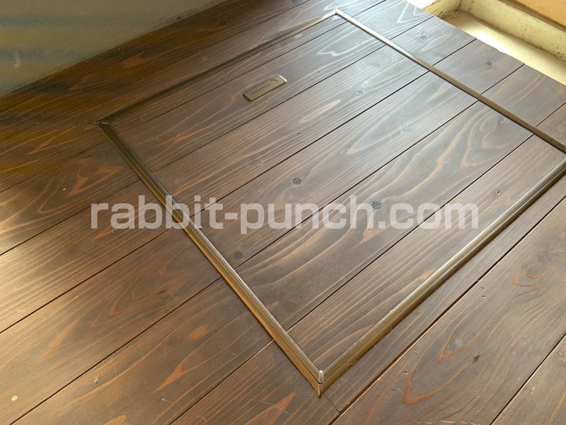 床下収納&点検口のフタを塗装