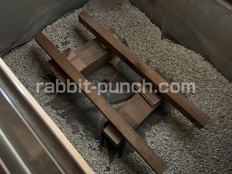 床下収納&点検口の高さ調整
