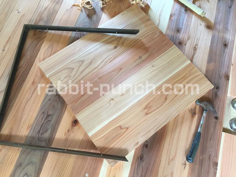 床下収納&点検口DIY:フタを作成