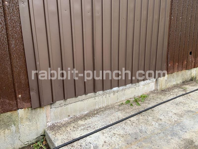 外壁トタン張りDIY