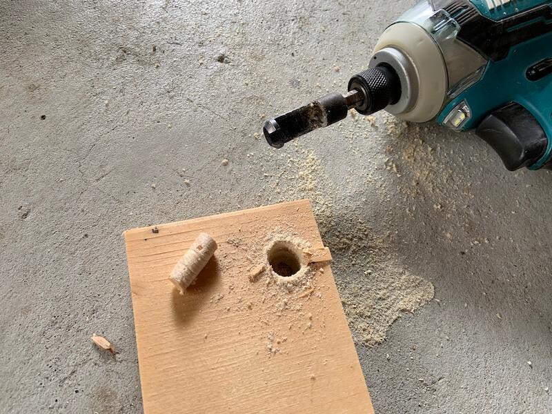 木ダボが自作できる木ダボドリル