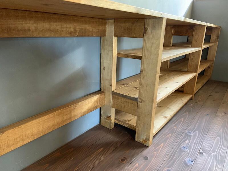 キッチン棚が完成